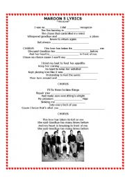 English Worksheet: Valentines song - Maroon 5, This love