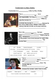 English Worksheet: Frankenstein