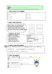 English Worksheet: Trinity GESE. Degree 1