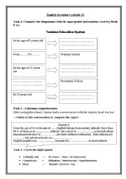 English Worksheet: English Secondary Schools (2)