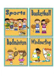 SPORTS 1 - FLASH CARDS