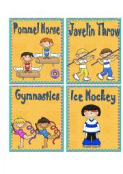 SPORTS 3 - FLASH CARDS
