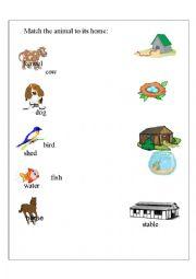 English Worksheet: Habitat