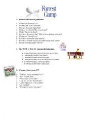 Printables Forrest Gump Worksheet english worksheets forrest gump worksheet gump