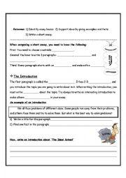 Writing a Short Essay (Student)