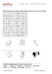 English Worksheet: WORDSEARCH happy house 2