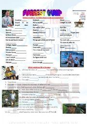 English worksheet: FORREST GUMP full movie worksheet