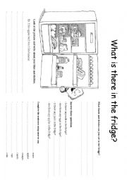 English Worksheet: What is there in the fridge?