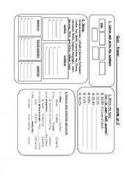 English Worksheet: Quiz about numbers to 1000, the time and some words