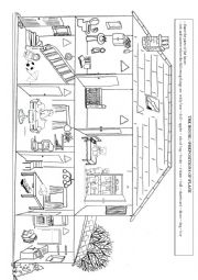English Worksheet: the house - prepositions of place
