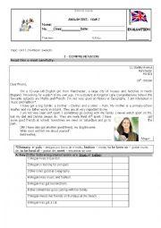 English Worksheet: Test - Megan�s e-mail
