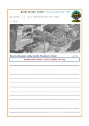 English Worksheet: Picture Description: Magic Tree House#1
