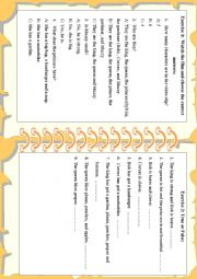 English Worksheet: Listening tasks - Muzzy BBC English - Handout