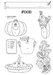 English worksheets the Food worksheets page 202