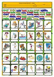 English Worksheet: Sports - vocabulary test