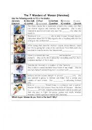 English Worksheet: Heroines