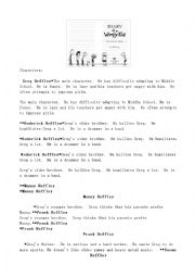 English Worksheet: Diary of a Wimpy Kid