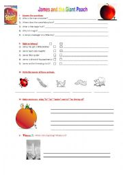 Worksheets James And The Giant Peach Worksheets english worksheets james and the giant peach worksheet peach