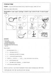 English Worksheet: Christmas fudge - a recipe for a Christmas candy