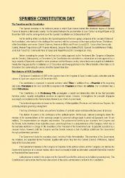 English Worksheet: Spanish Constitution Day
