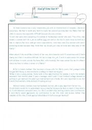 English Worksheet: end of term test 2nd form tunisia