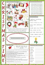 English Worksheet: Christmas Vocabulary Exercises