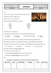 English Worksheet: Love Boat 1st form