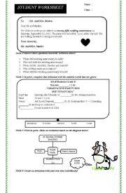 English Worksheet: invitation -short functional text-