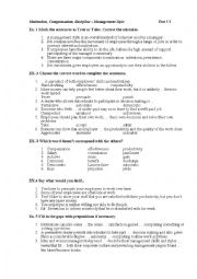 English Worksheet: lexical test on motivation and managemetn styles
