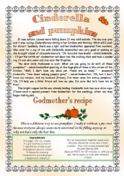 English Worksheet: Cinderella and Pumpkins