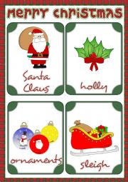 Christmas - flashcards 2