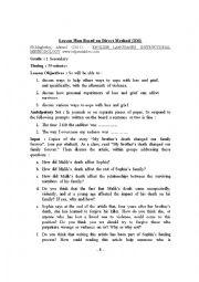 English Worksheet: Lesson Plan Based on Direct Method (DM)