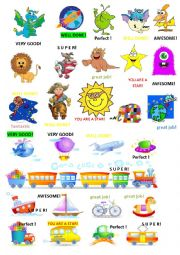English Worksheet: stickers for boys