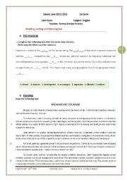 English test  - 10th form