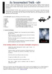 English worksheet: An inconvenient truth (movie)