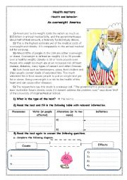 English Worksheets: health and behaviour