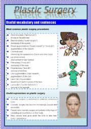Plastic Surgery (Vocabulary and Expressions)