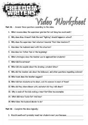 Freedom Writers Worksheet Answers - K5 Worksheets
