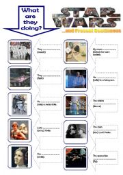 English Worksheet: Present Continous for kids