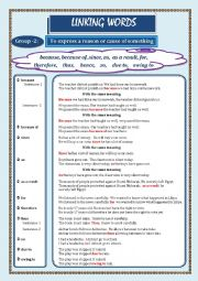 English Worksheet: LINKING WORDS (Conjunctions + Adverbs) Page - 02