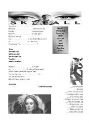 English Worksheet: Skyfall - Adele