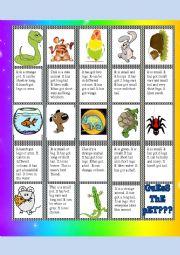 English Worksheet: guess the pet