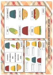 THANKSGIVING FOOD FOR YOUNG LEARNERS