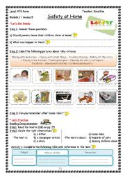 Safety at Home Worksheet