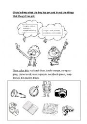 English worksheet: Let´s go camping 2