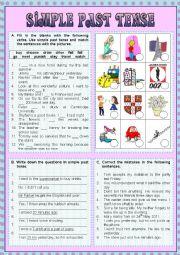 English Worksheet: Simple Past Tense