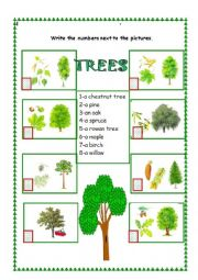 the trees esl worksheet by. Black Bedroom Furniture Sets. Home Design Ideas