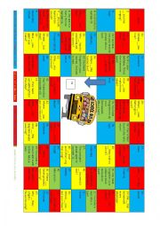 English Worksheet: A board game - grammar and vocabulary work