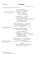 English Worksheet: Wonderwall- by Noel (Oasis)