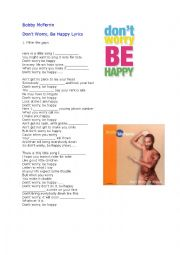 English Worksheet: don´t worry , be happy